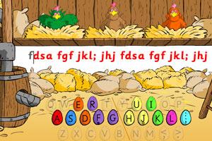 大公鸡教打字指法练习